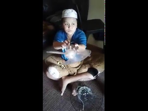 Autistic Boy with his favourite activity