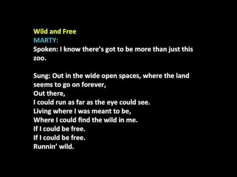 Wild & Free Madagascar Audition (with vocals)