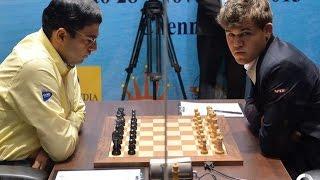 Карлсен против Ананда: необычный дебют и яркая концовка