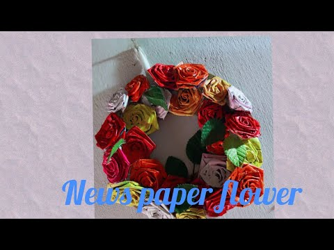 News paper flowers Decoration/Wall Hanging ideas