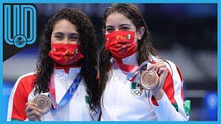 Gabriela Agúndez y Alejandra Orozco vibraron a un lado de la fosa del Centro Acuático de los XXXII Juegos Olímpicos