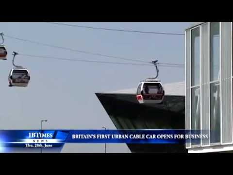 Britain's First Urban Cable Car Opens For Business