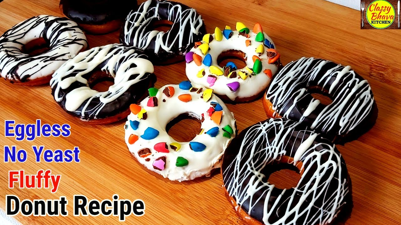 Eggless Donut Recipe | No yeast Donut Recipe | Fluffy donuts without Eggs & yeast| Easy donut recipe