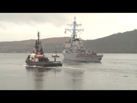 NATO Maritime Group Leaves Faslane Naval Base in Scotland