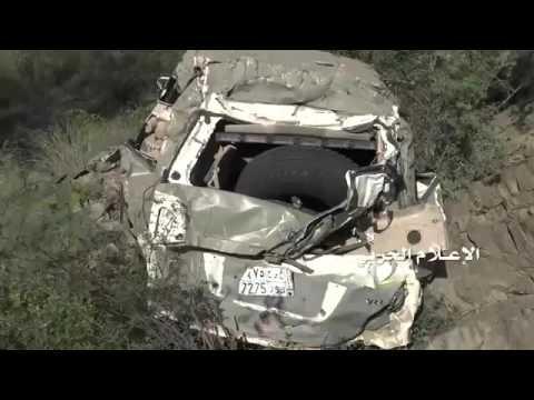 Yemen war 2016 Houthi fighters use Russian KONKURS ATGM to destroy Saudi army Abrams Tank