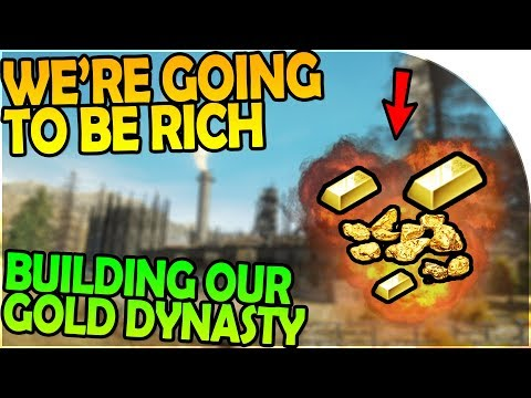 WE'RE GOING TO BE RICH - BUILDING UP OUR GOLD DYNASTY - Gold Rush The Game Gameplay