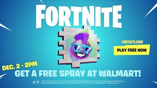 I'm giving away 3 Free Walmart Fortnite Sprays