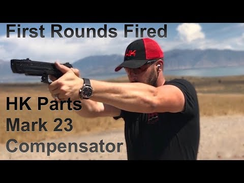 HK Parts Mark 23 Compensator First Shots Fired - YouTube