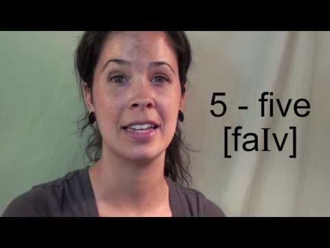 How To Pronounce The Numbers 1 - 10:  American English