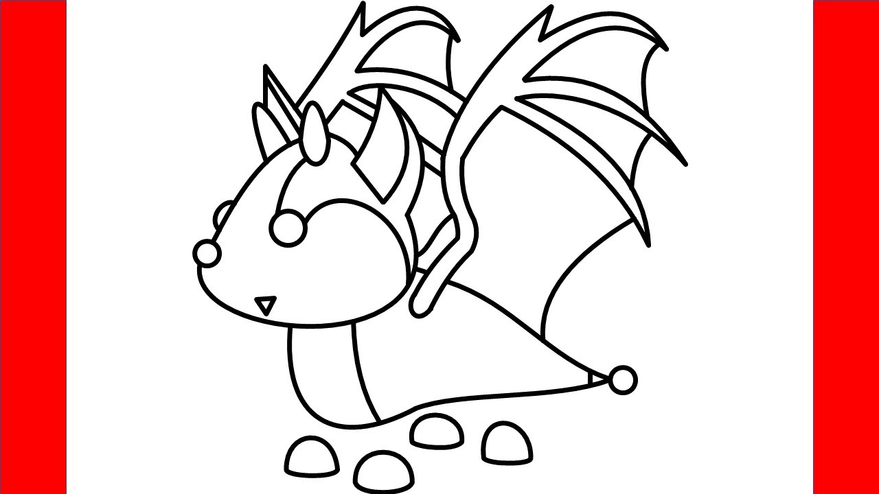 How To Draw Bat Dragon From Roblox Adopt Me - Step By Step ...