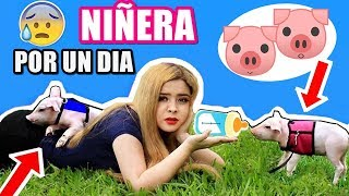 NIÑERA POR UN DÍA de 2 CERDITOS  - Criss Huera