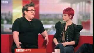J Marie Cooper on BBC Breakfast talking about BBC The Voice