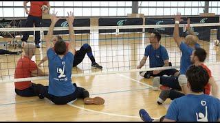 Découverte du volley assis, au service du collectif - Champions d'Exception - Handisport TV