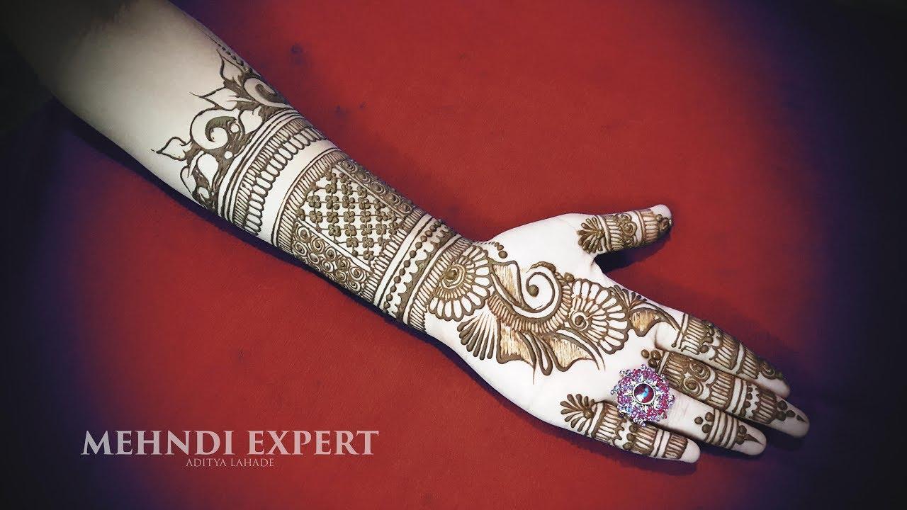 Hand Mehndi Designs For Unique: Fusion Of Arabic And Full Hand Mehndi Designs For Hands