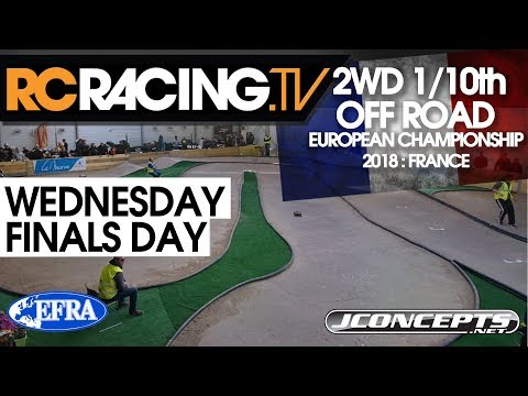 EFRA 1/10th 2WD Off Road Euros - Wednesday - Finals Day - Live