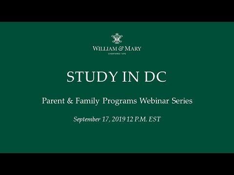 Study in DC Webinar