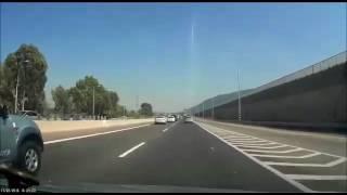 נהג ישראלי נפל על שוטר בכביש