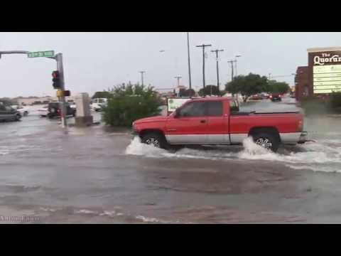 Flash Flooding In Lubbock, Texas. June 1st, 2016.