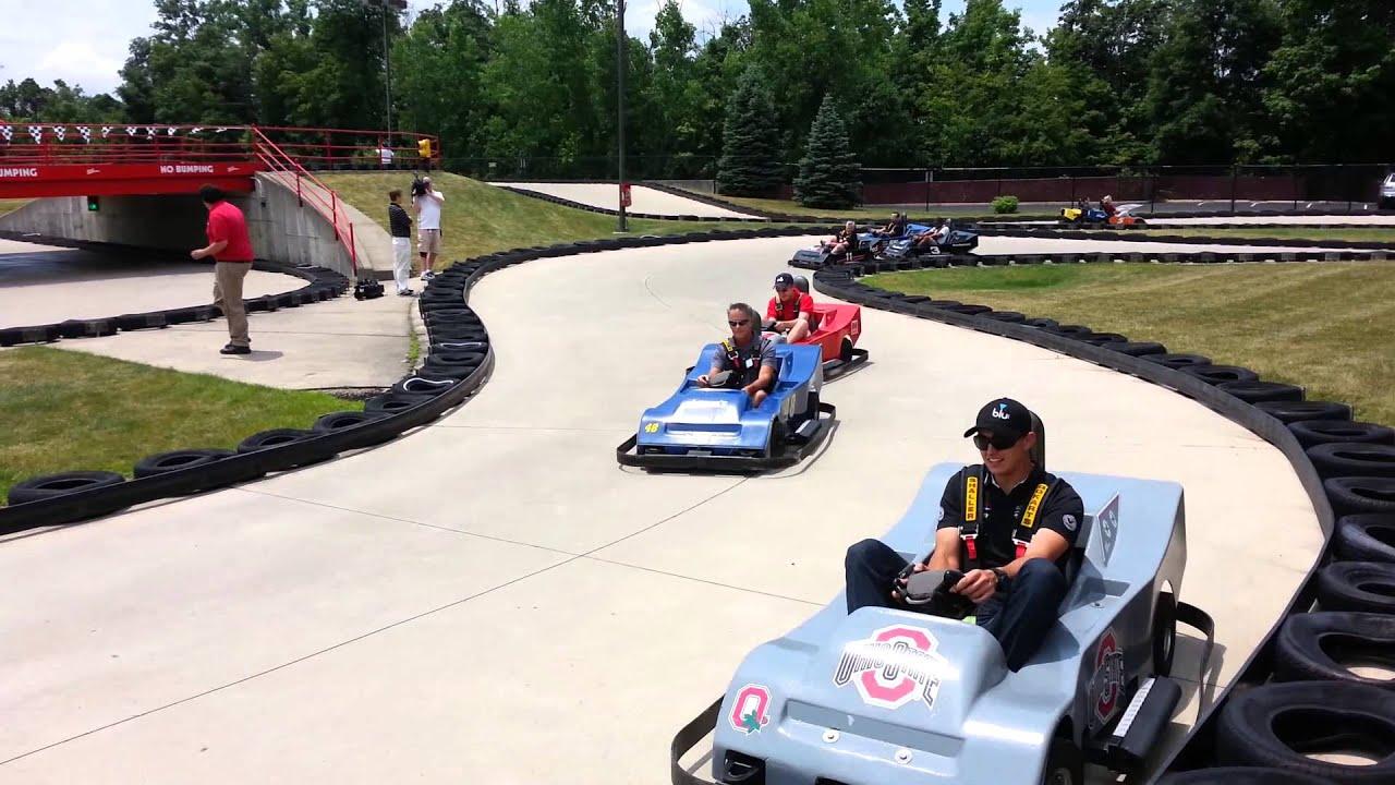 Go Karts Columbus >> Go kart action at Magic Mountain - YouTube