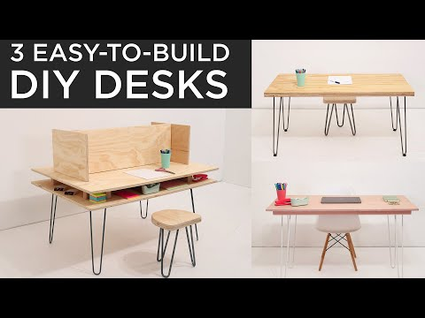 Easy-to-build DIY DESKS | 3 Options that can be built in under 2 hours #StayHome and build #WithMe