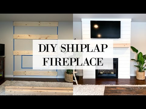 DIY SHIPLAP FIREPLACE | WALL TRANSFORMATION