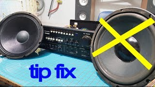 2 tips amp, Amplifier one channel not working  fix amplifier only playing through one speaker