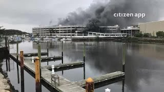 Raw Video: Kings Plaza Parking Garage Cars On Fire
