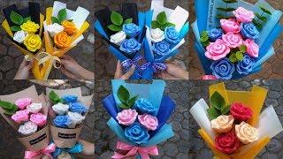 DIY Felt Rose Flower | Cara Membuat Bunga Mawar dari Kain Flanel