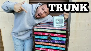 THE LOVE TRUNK I Bought Abandoned Storage Unit Locker Opening Mystery Boxes Storage Wars Auction