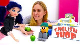 Учим названия продуктов с Леди Баг. Играем в куклы - Английский для детей
