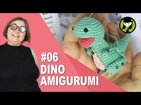 Dinosaurio amigurumi 06 tejido a ganchillo