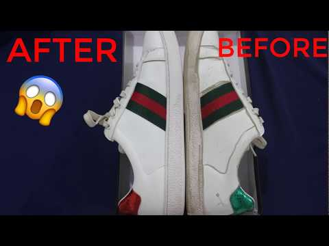 How to clean GUCCI sneakers *WORKS100%*