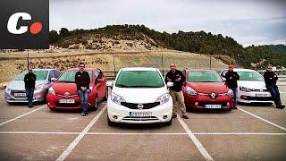 Comparativa Utilitarios: Nissan Note,  Renault Clio, Polo, 208, Yaris - Prueba coches.net / Review