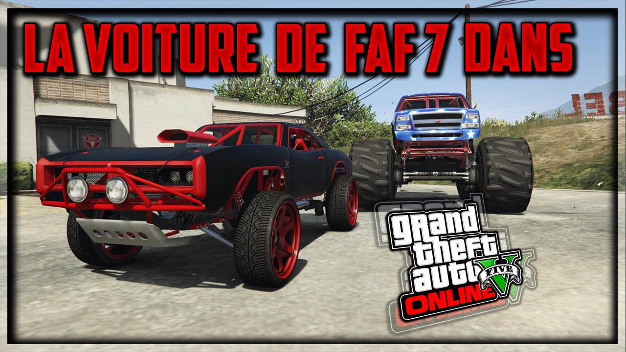 la voiture de fast and furious 7 dans gta v youtube. Black Bedroom Furniture Sets. Home Design Ideas