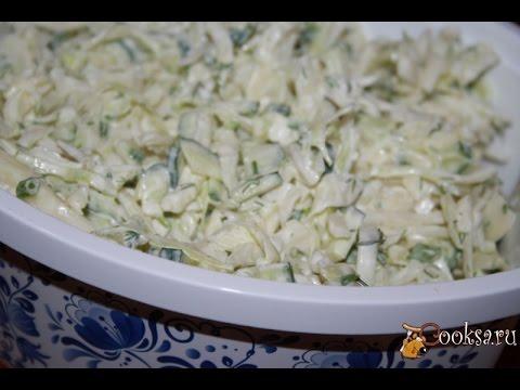 Капустный салат с огурцом и яйцом