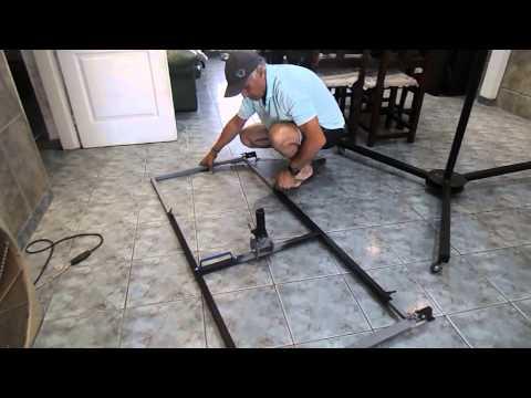 Elevador de placas de durlock yeso etc youtube - Elevador placas pladur ...