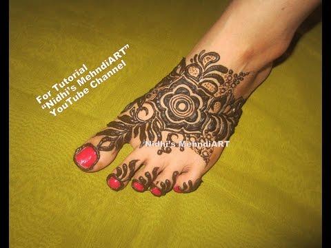 Bridal Gulf Style Floral Feet Leg Foot Henna Mehndi Design Tutorial