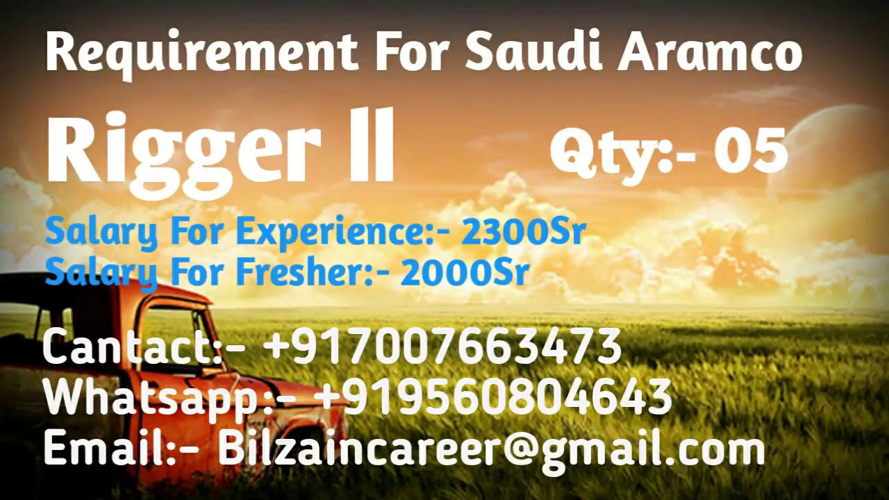 Saudi arabia rigger ii job for indians youtube saudi arabia rigger ii job for indians 1betcityfo Images