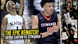 Sierra Canyon vs Etiwanda EPIC REMATCH Ended W/ CRAZY GAME WINNER In Regional Finals!