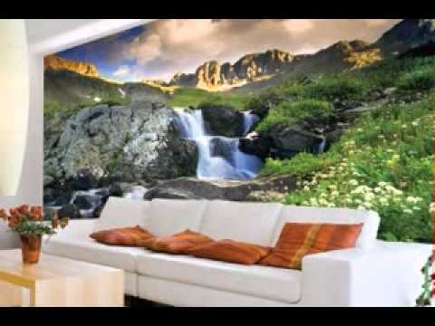 Creative Scenery Wallpaper Design For Living Room Youtube