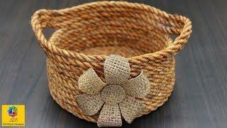 DIY Flower Basket with Jute Rope | Jute Rope Basket | Jute Craft Idea