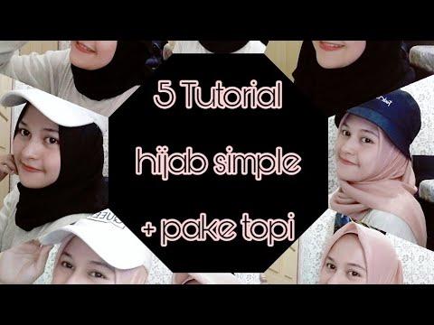 5 Tutorial Hijab Simple Pake Topi Youtube
