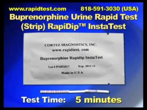 Buprenorphine Urine Rapid Test Strip) RapiDip™ InstaTest