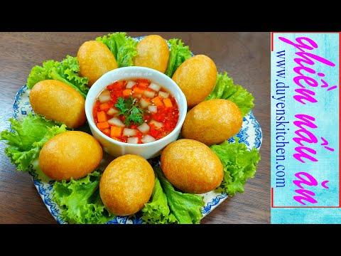 Cách Làm Bánh Cam Mặn Nhân Chay | Bánh Rán Chay By Duyen's Kitchen | Ghiền nấu ăn