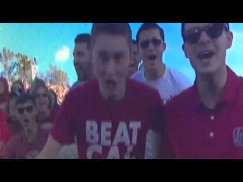"""Stanford Fan """"Beat Cal"""" Shirt At Rose Bowl vs Iowa #RoseBowl"""