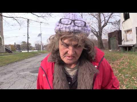 Older Women On The Streets Of Detroit. One Tough Survivor