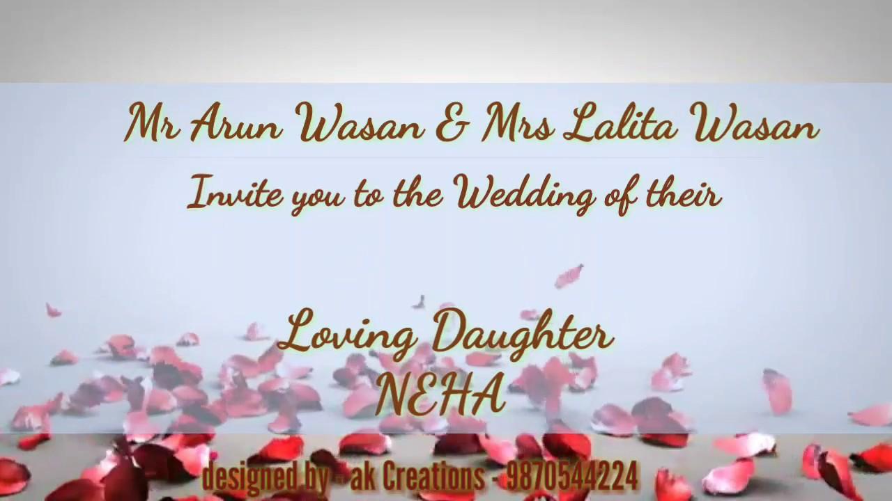 Wedding Text Message Invitation: Wedding Invitation Whatsapp Message