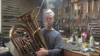 How To Convert a Concert Tuba to Marching Tuba: King Model 1140