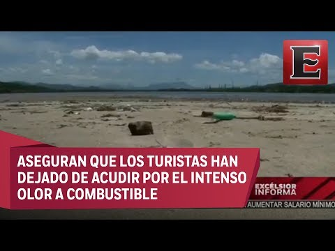 Denuncian contaminación de playas por limpieza de refinería en Salina Cruz