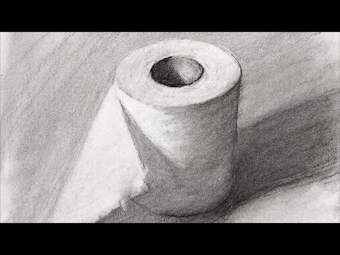 Charcoal drawing techniques - How to see and drawing shapes